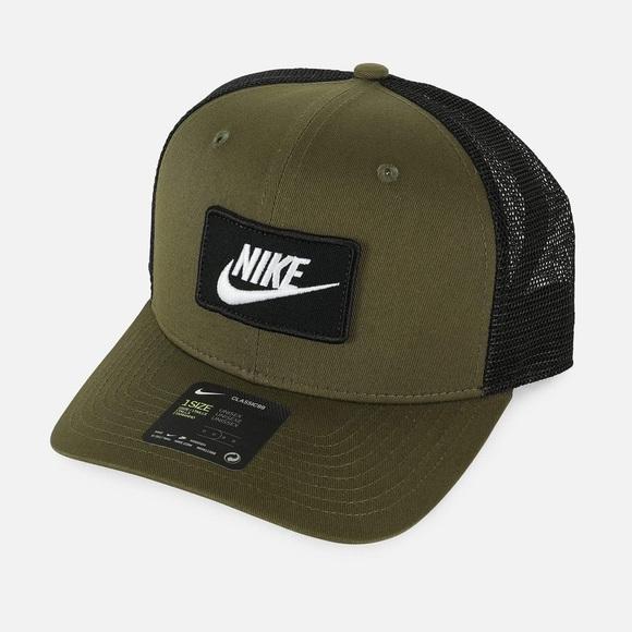 NEW Nike NSW Classic99 Trucker Hat Olive Green